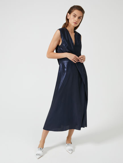 Laminated Crepe Waterfall Dress Sportmax
