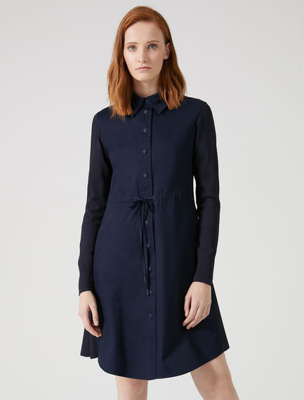 Shirred Gabardine Shirtdress Sportmax