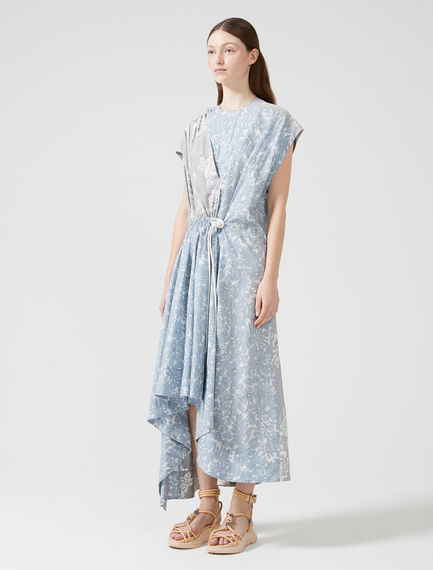 Print Fusion Silk & Poplin Dress Sportmax