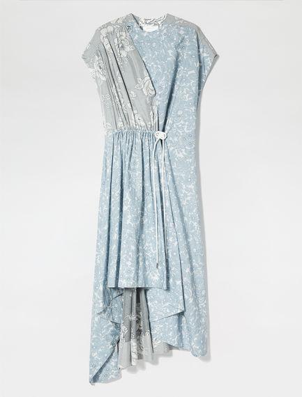 Print Fusion Silk & Poplin Dress