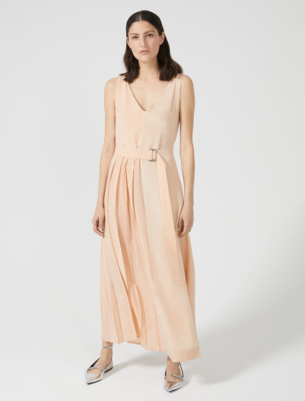 Sleeveless Silk Crêpe Dress Sportmax