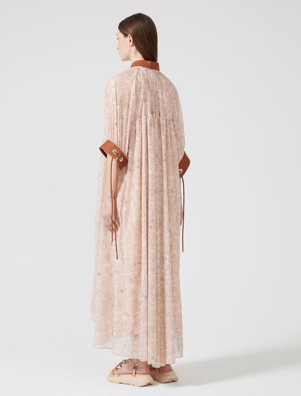 Printed Chiffon Peasant Dress