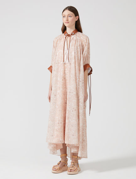 Printed Chiffon Peasant Dress