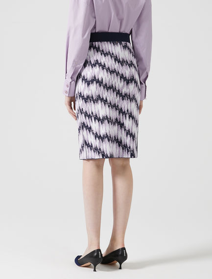 Spindle Sketch Jacquard Skirt