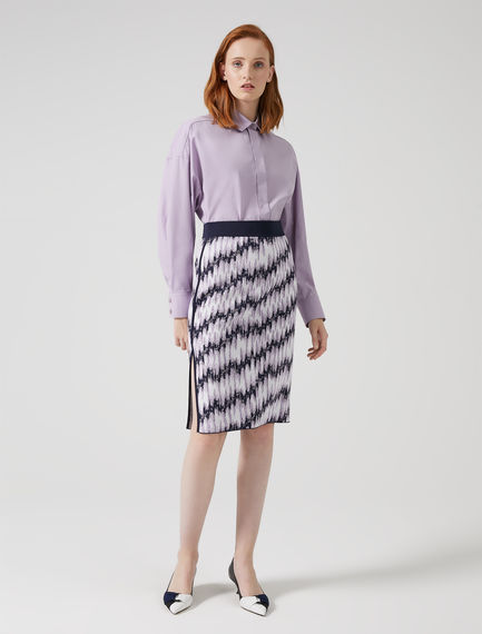 Gonna dritta in jacquard stretch Sportmax