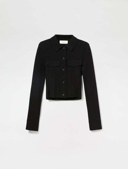 Viscose Rib Western Jacket