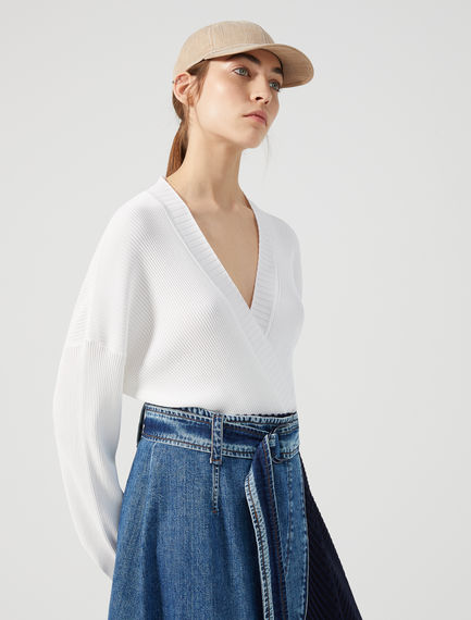 Cardigan cropped in viscosa Sportmax