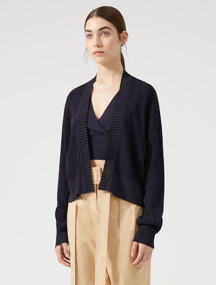 Cropped Viscose Cardigan
