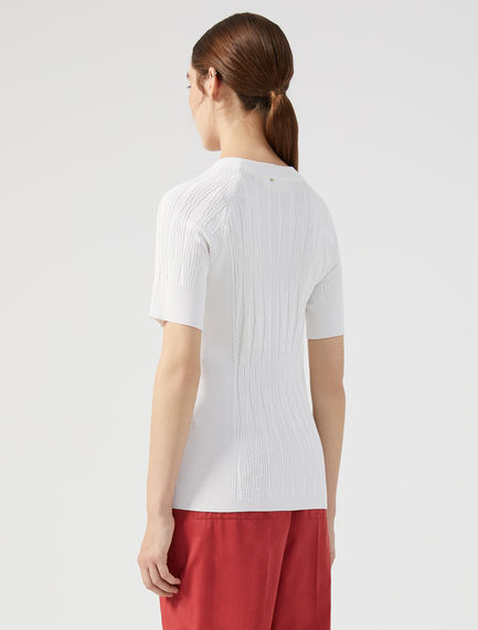 Geo Rib Knit T-shirt