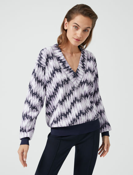 Electro-brush Viscose Sweatshirt Sportmax