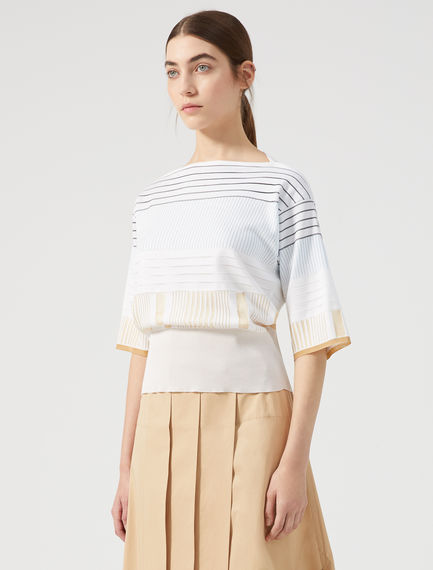 Multi-Stripe Jacquard Knit Sweater