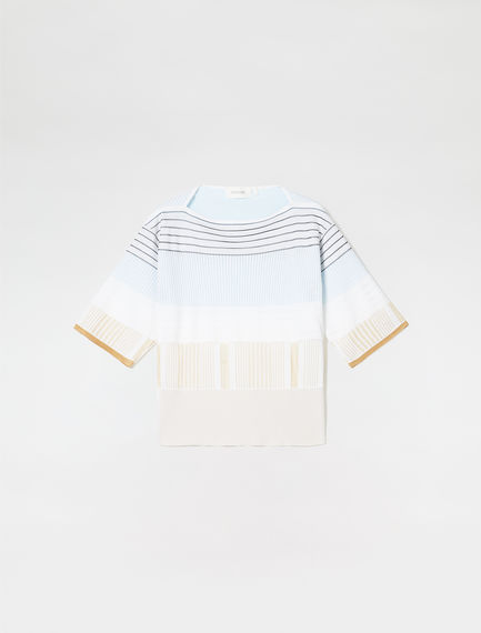 Multi-Stripe Jacquard Knit Sweater Sportmax