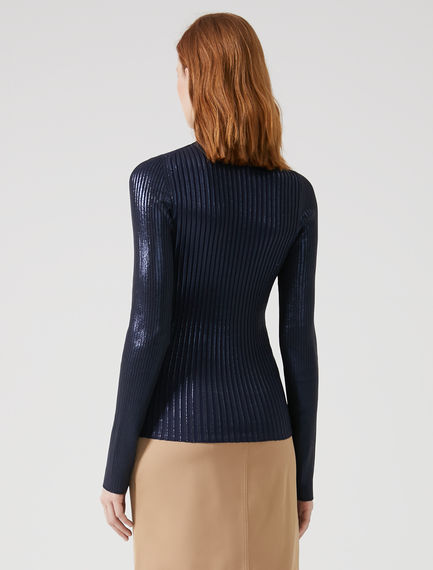 Laminated Rib Knit Sweater Sportmax