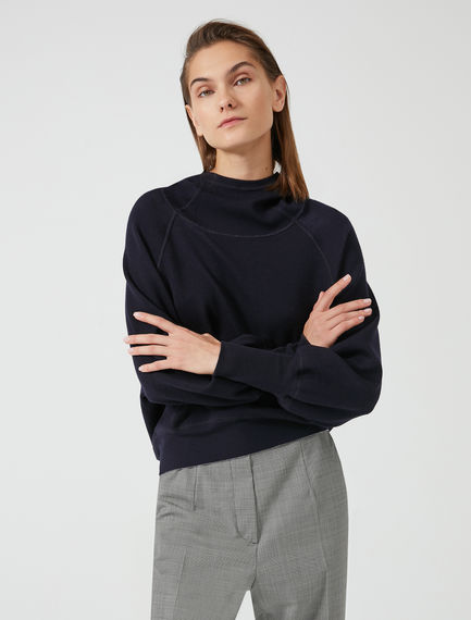 Reversible Wool & Viscose Hooded Sweatshirt Sportmax