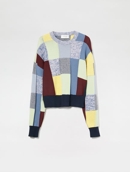 Patchwork Effect Sweater Sportmax