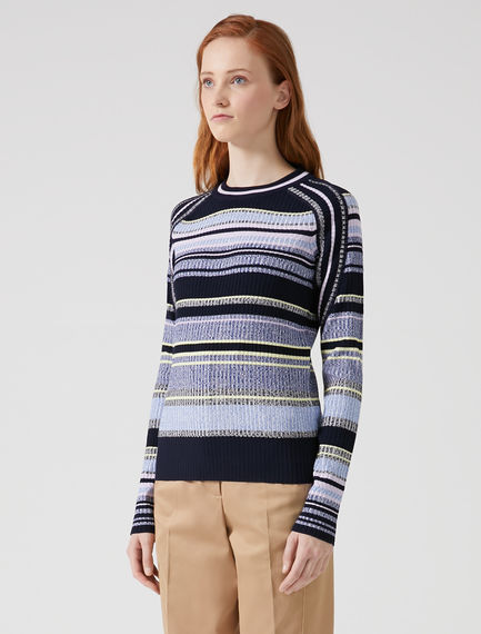Twisted Stripe Knit Sweater