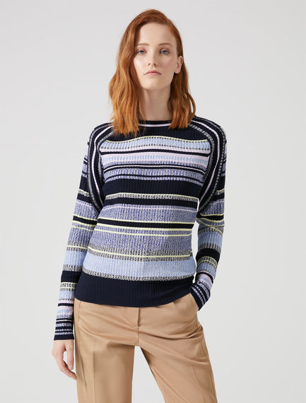 Twisted Stripe Knit Sweater Sportmax
