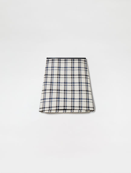 Woven Nappa Leather Skirt