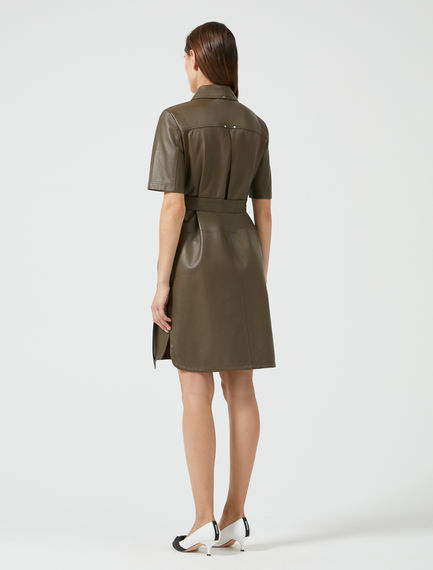 Studded Leather Shirt Dress Sportmax