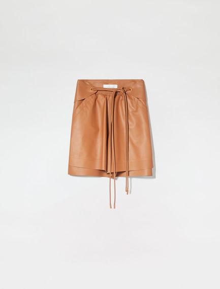 Nappa Leather Boyfriend Shorts