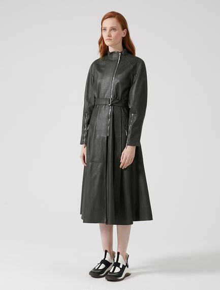Biker-inspired Nappa Leather Coat