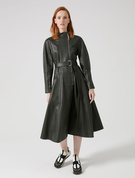 Biker-inspired Nappa Leather Coat Sportmax