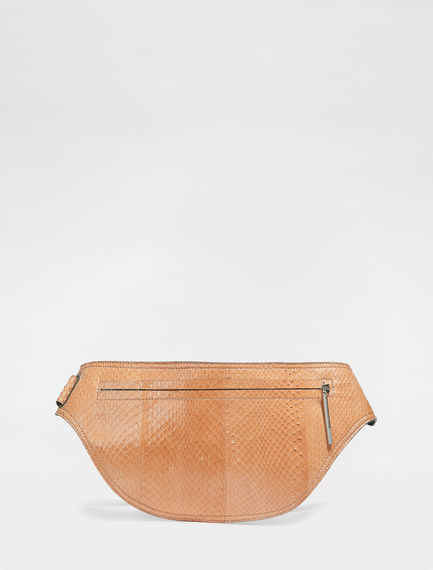 Snakeskin Leather Belt Bag