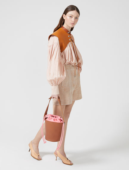 Drawstring Leather Bucket Bag Sportmax