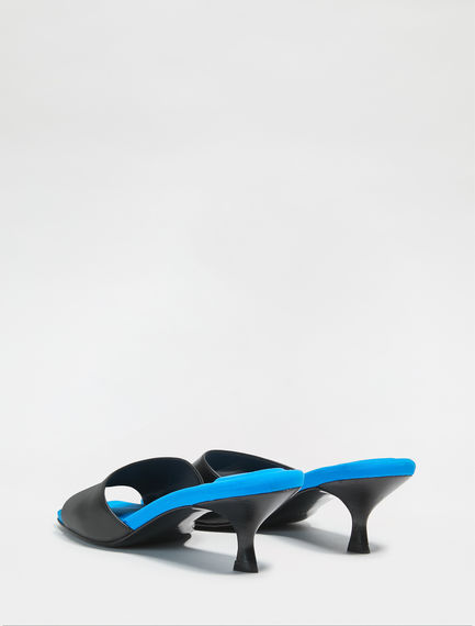 Electric Contrast Leather Mules Sportmax