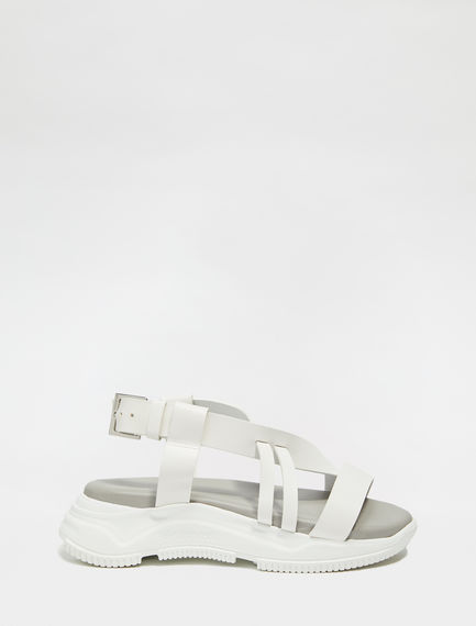 Leather Lattice Trek Sandals Sportmax