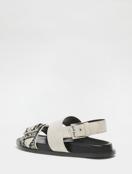 Snakeskin Leather Nomad Sandals Sportmax