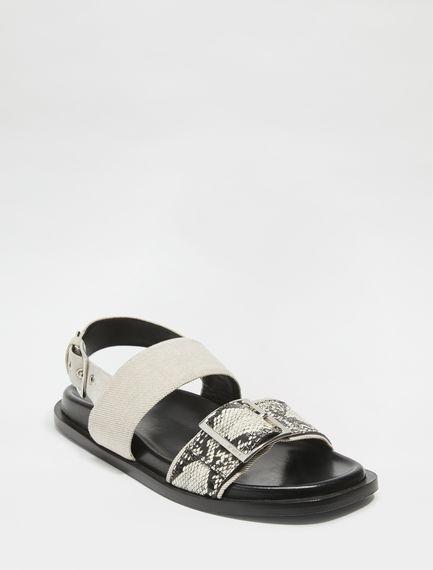 Snakeskin Leather Nomad Sandals