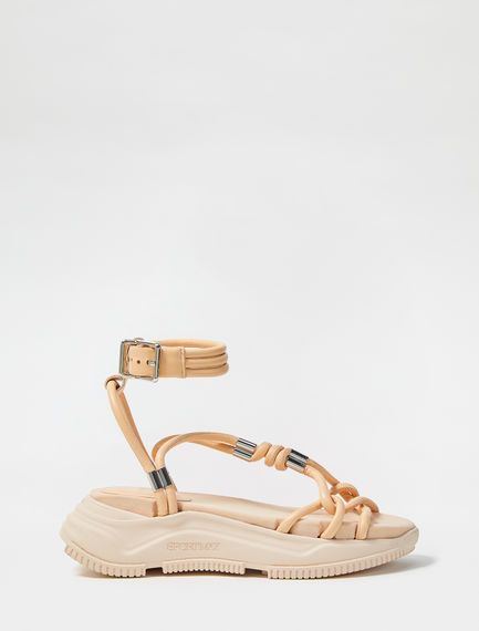 Laced Leather Sandals Sportmax