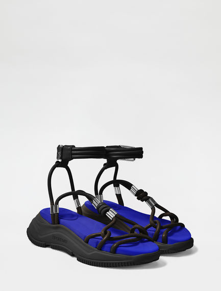 Laced Leather Sandals