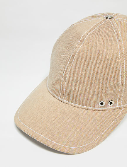 Cappello da baseball in denim