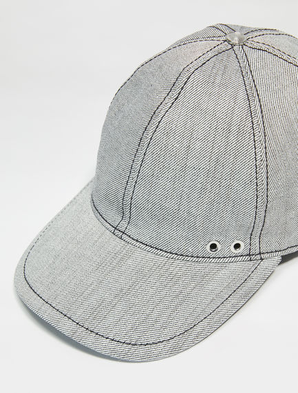 Linen Denim Baseball Cap