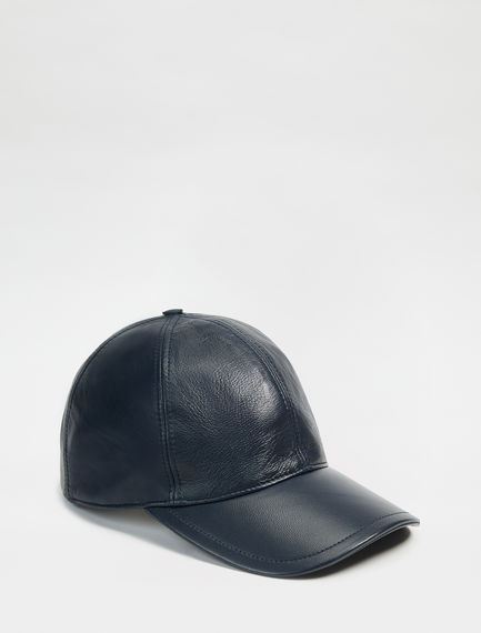 Nappa Leather Baseball Cap Sportmax