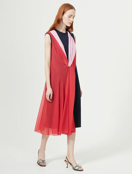 Two-tone Asymmetric Dress Sportmax