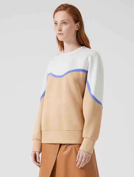 Two-tone Ripple Neoprene Sweatshirt