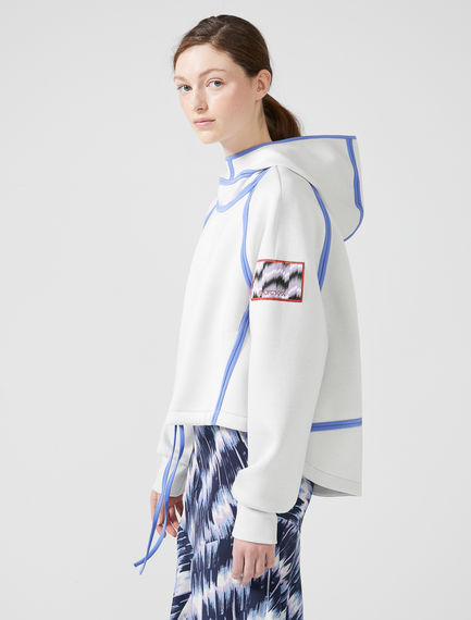 Olympian Taped Hooded Sweatshirt Sportmax