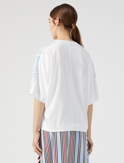 Shoulder Stripe Kimono T-shirt