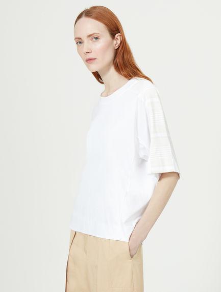 Shoulder Stripe Kimono T-shirt Sportmax