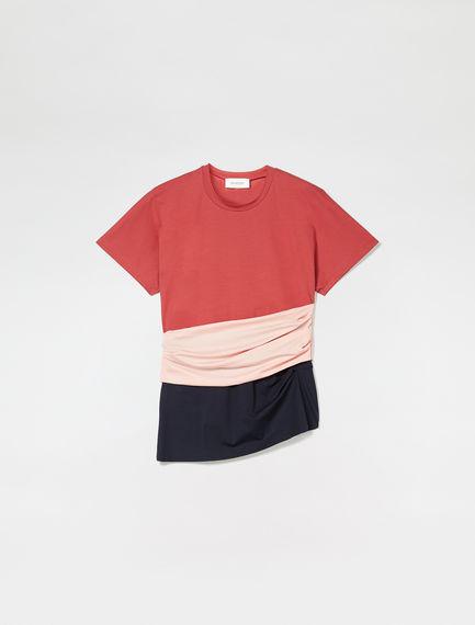 T-shirt con fusciacca drappeggiata