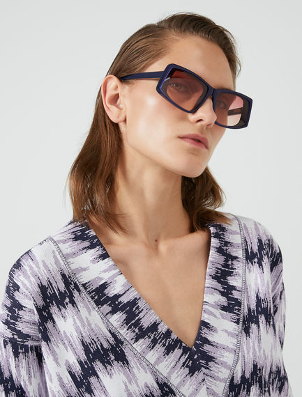 Dynamo Layered Acetate Sunglasses Sportmax