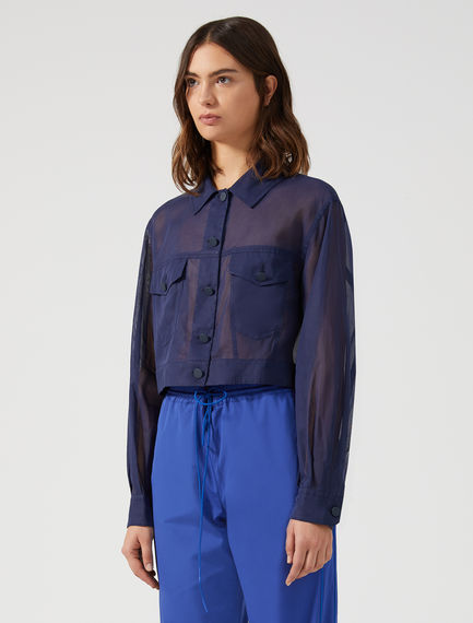 Organza Denim-style Jacket