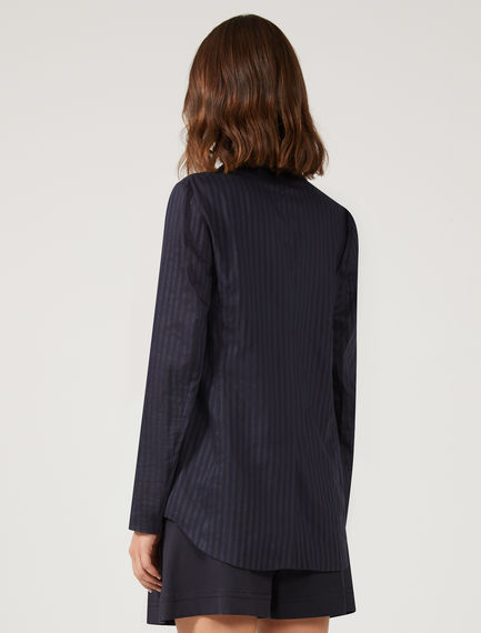 Silk & Cotton Pinstripe Blazer