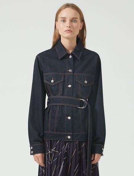 Corset-Stitch Denim Jacket
