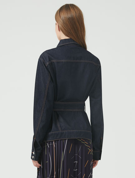 Corset-Stitch Denim Jacket Sportmax