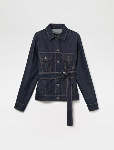 Corset-Stitch Denim Jacket