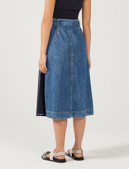 Denim & Tulle Wrap Skirt